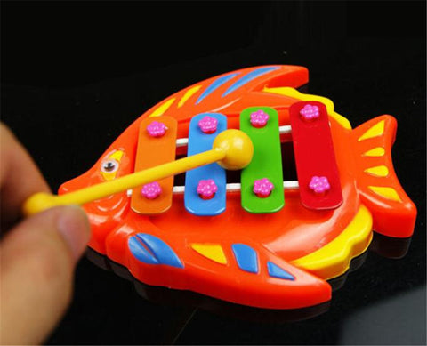 hot sell Kids Baby Musical Educational Animal Developmental Music Bell Toy 4 Tone .