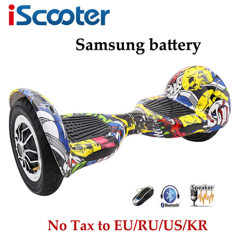 iScooter 10inch Hoverbaord Samsung battery Electric self balancing Scooter for Adult