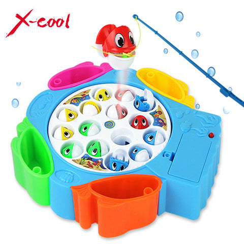 kids fishing toys set children educational toys musical lectric rotating fishing game no