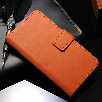 Flip Wallet Case For Samsung Galaxy S5 I9600 Coque Genuine Leather With Card Holder