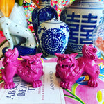 Hot Pink Mini Foo Dogs