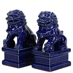 Mini Navy Foo Dogs