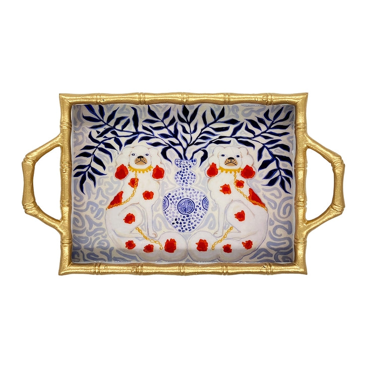 Preorder Staffies Enameled Chang Mai Tray 10 x 14