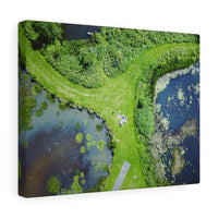 Picnic between the lakes, Dublin, Ireland - Canvas Wrap