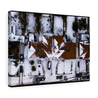Snowy rooftops, Dublin, Ireland - Canvas Wrap