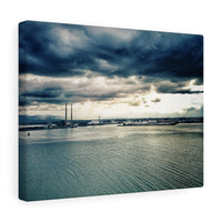 Dublin Bay from up above Dollymount Strand - Canvas Wrap
