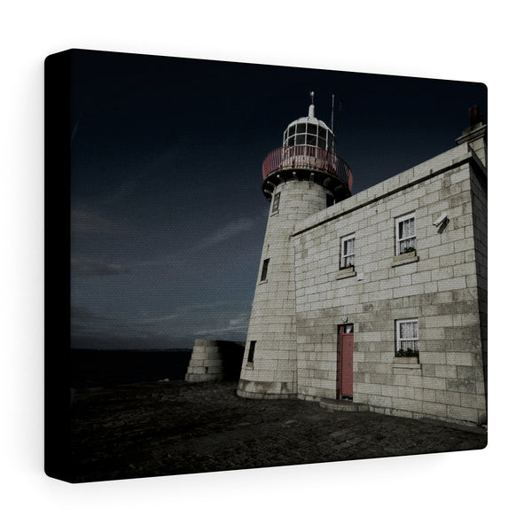 Lighthouse in Howth, Co Dublin, Ireland  - Canvas Wrap