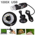 USB Electronic Microscope - 500X/1000X 8 LED - Professional Mount