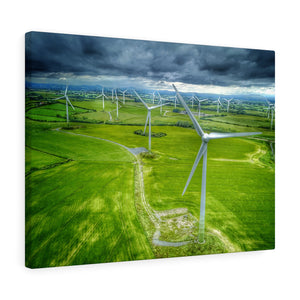Ballywater windmills, Co Wexford, Ireland - Canvas Wrap