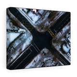 Snowy Junction @ Griffith Avenue, Dublin, Ireland - Canvas Wrap