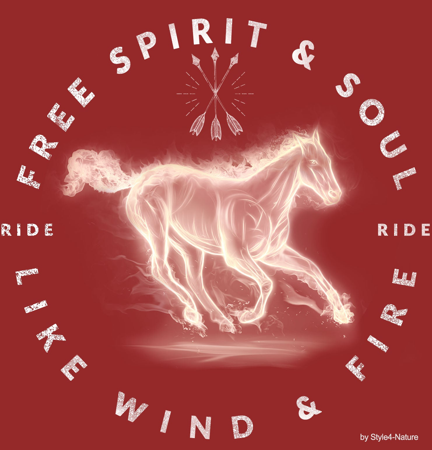 T-Shirt Ride like Wind and Fire - Free Soul & Spirit - Style4-Nature - Schmuck - Mode - Home Deko