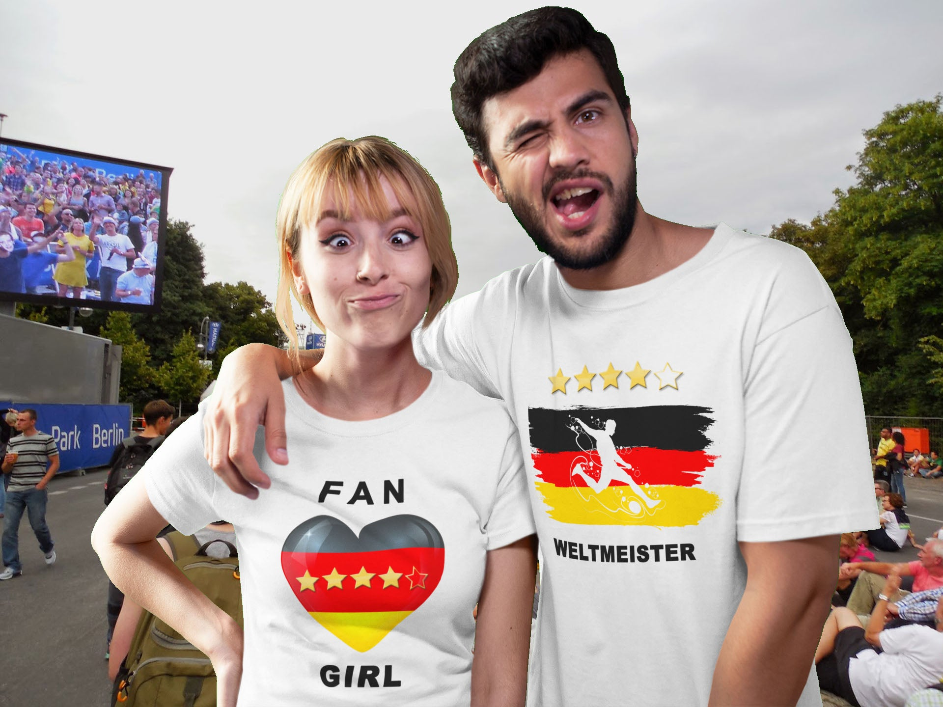 WM - Fan-Girl T-Shirt für Public Viewing - Style4-Nature