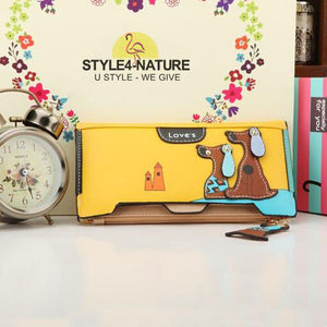 Portemonaie - Cartoon Hunde mit Hunde-Zipper - Gerade - Style4-Nature - Schmuck - Mode - Home Deko