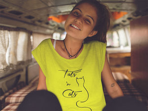 Tats and Cats - exklusives Crop Tee-Shirt
