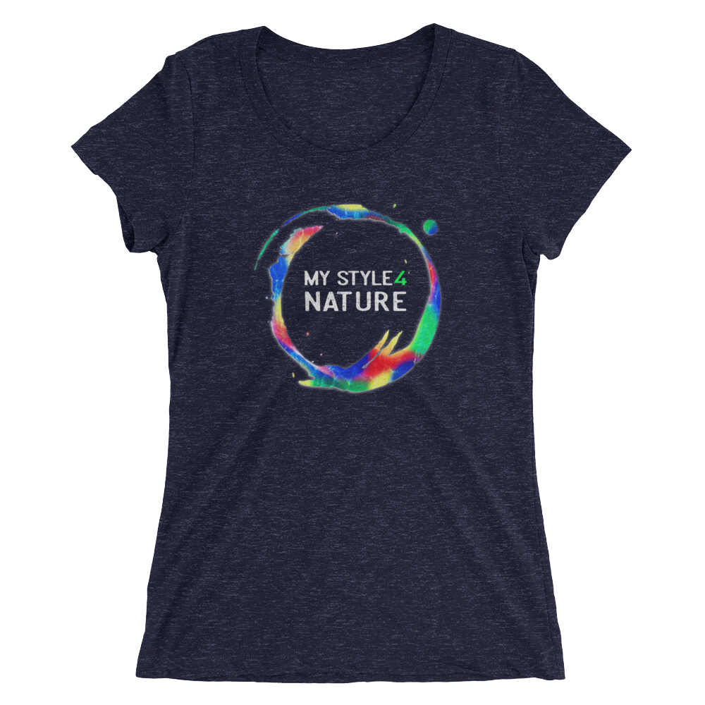 "Ladies' T-Shirt - ""My Style 4 Nature"" - Stylish Abstracted Earth Motive - Style4-Nature"