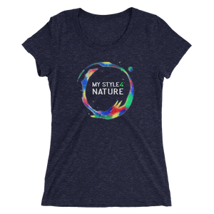 "Ladies' T-Shirt - ""My Style 4 Nature"" - Stylish Abstracted Earth Motive - Style4-Nature - Schmuck - Mode - Home Deko"