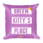 Square Pillow for Cat Lovers - Queen Kitty's Place