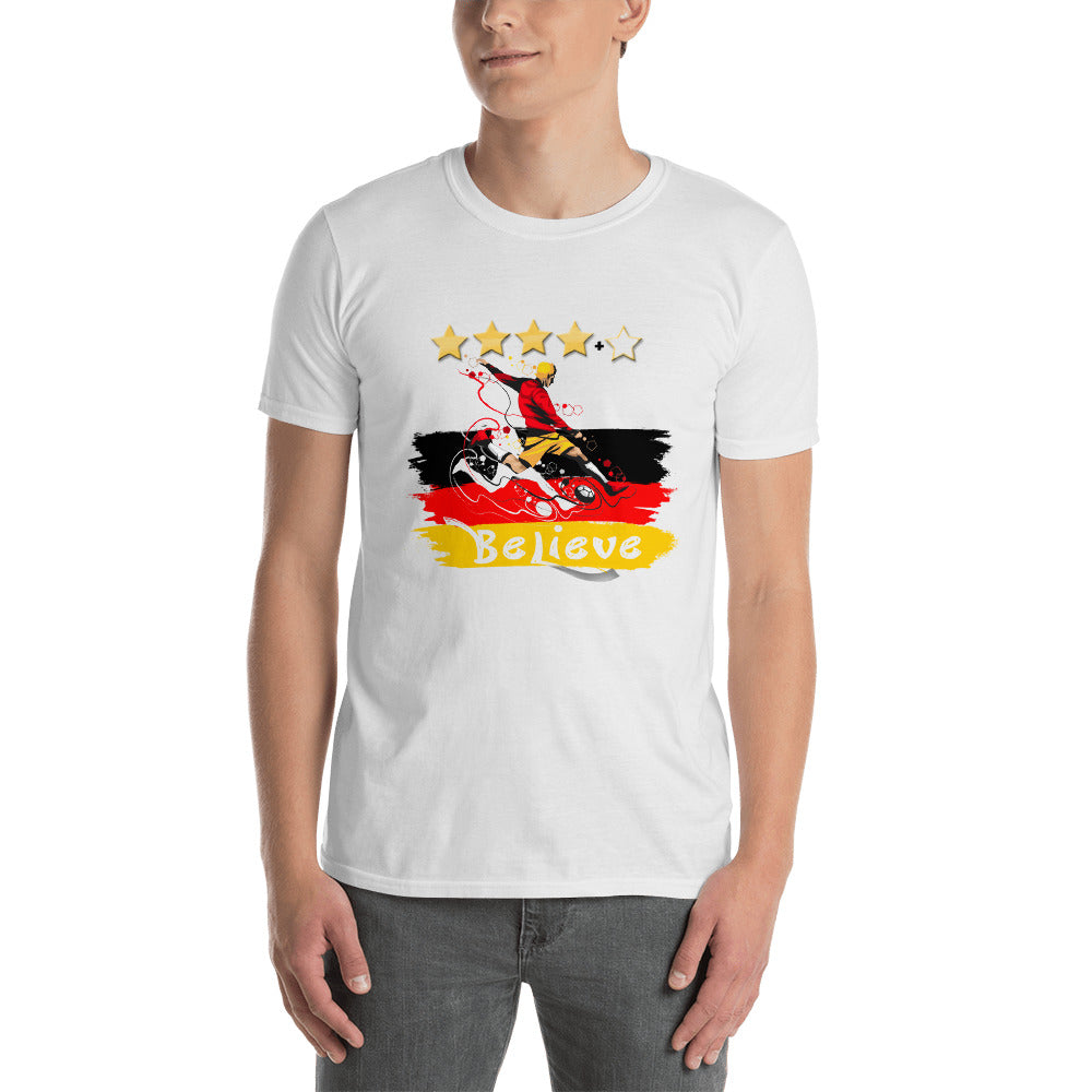 WM 2018 FAN-Shirt, Public Viewing T-Shirt BELIEVE - Style4-Nature - Schmuck - Mode - Home Deko
