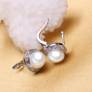 Perlen Ohrringe 925er Sterling Silber. Pearl Ear Studs. Earrings