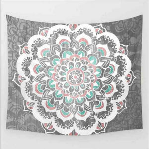 Indian Mandala - Wand Vorhang - Strand-Tuch - Style4-Nature
