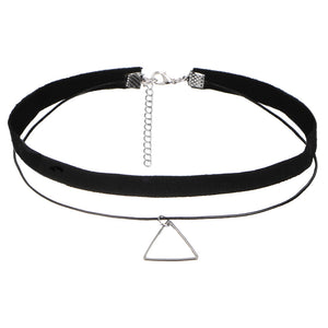 Choker Halsband Set. 10teilig. Fine, cool bis Gothic - Style4-Nature