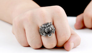 BEIER Tiger Ring für den Mann. Stainless Steel Titanium. - Style4-Nature - Schmuck - Mode - Home Deko