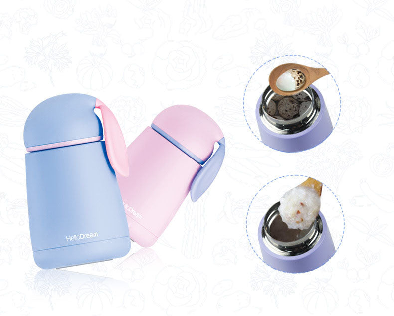 Hasen Thermo Cup. Stainless Steel Kinder-Thermos-Kanne. - Style4-Nature - Schmuck - Mode - Home Deko