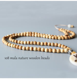 Zen Buddhism 108 Mala Lotus Halskette - Style4-Nature - Schmuck - Mode - Home Deko
