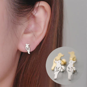 Cute Small Parrot Earring. Hübscher, schlichter Papageien-Ohrstecker - Style4-Nature