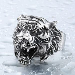 BEIER Tiger Ring für den Mann. Stainless Steel Titanium. - Style4-Nature