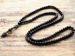 New Design Schwarze Hematite Mala Kette - Style4-Nature - Schmuck - Mode - Home Deko
