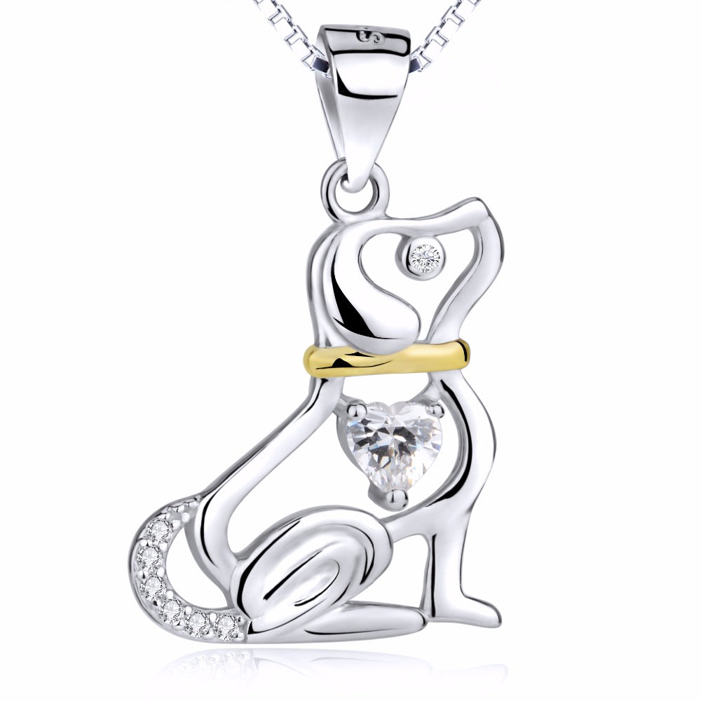 Hunde-Liebhaber - Halskette in 925 Sterling Silber - Style4-Nature - Schmuck - Mode - Home Deko