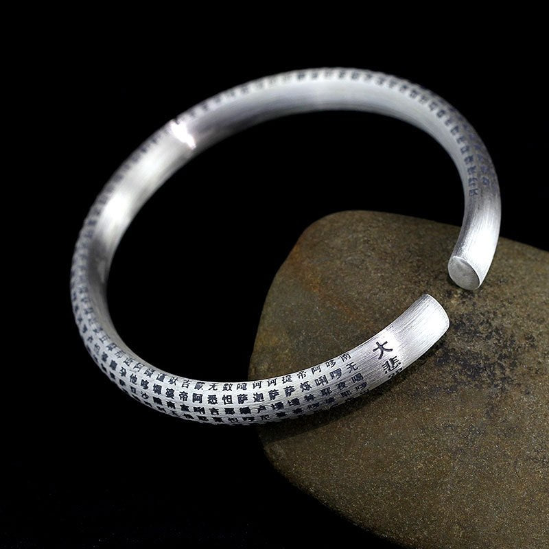 Tibetisches Mantra Armband. Pures 999 Sterling Silber - Style4-Nature