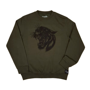 3 Eyed Panther Sweatshirt Khaki