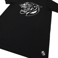 3 Eyed Panther Longline T-Shirt Black