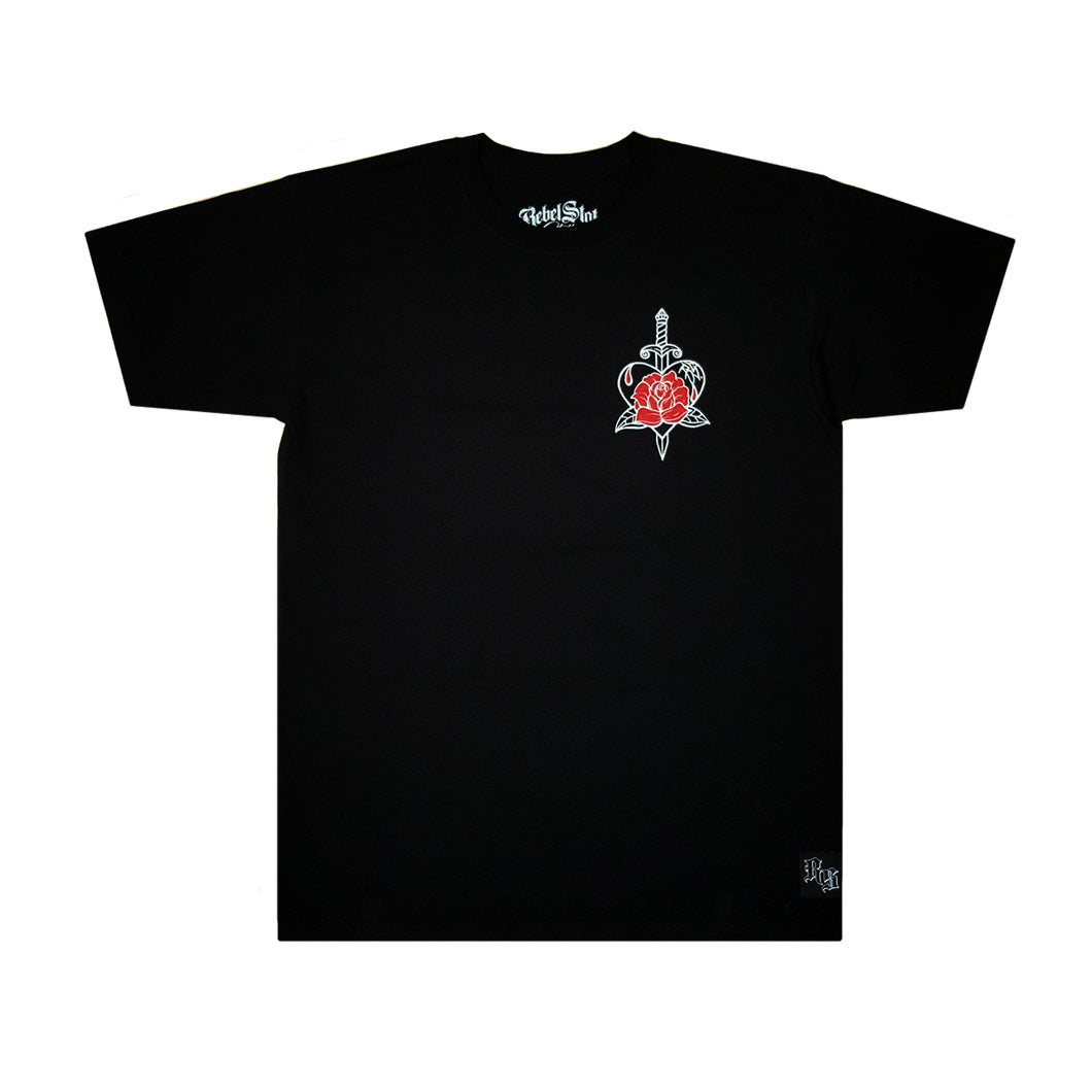 Rose Dagger T-Shirt Black