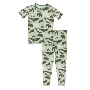 Kickee Pants Print Short Sleeve Pajama Set with Pants - 6t