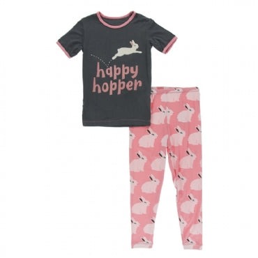 Kickee Pants Short Sleeve Graphic Tee Pajama Set - 6t