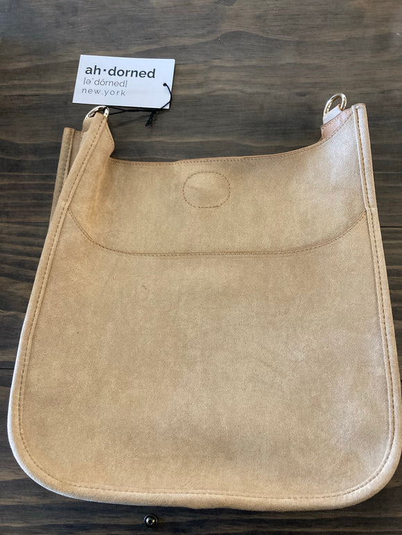 AHDORNED Sueded Leather Classic Messenger Bag