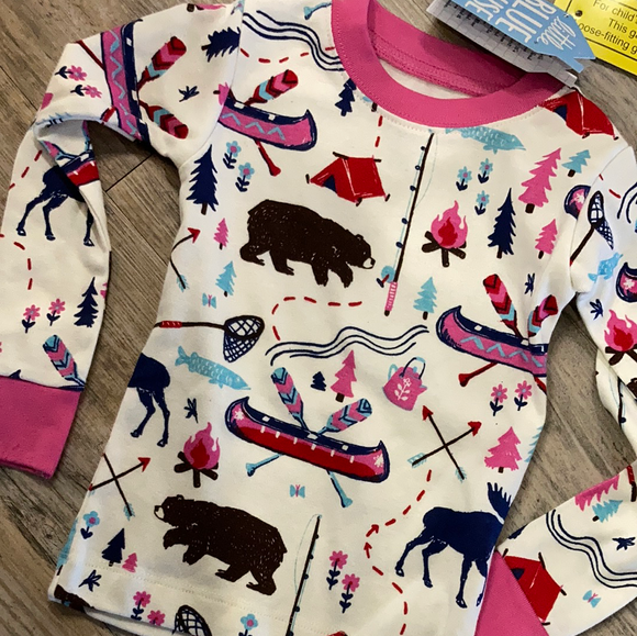 LBH Kids PJ Set - Pretty Sketch Country