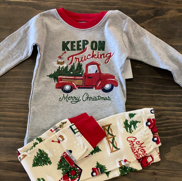 LBH Kids Applique PJ Set - Keep on Trucking