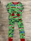 LBH Kids Pajama Set - Retro Christmas (Green)