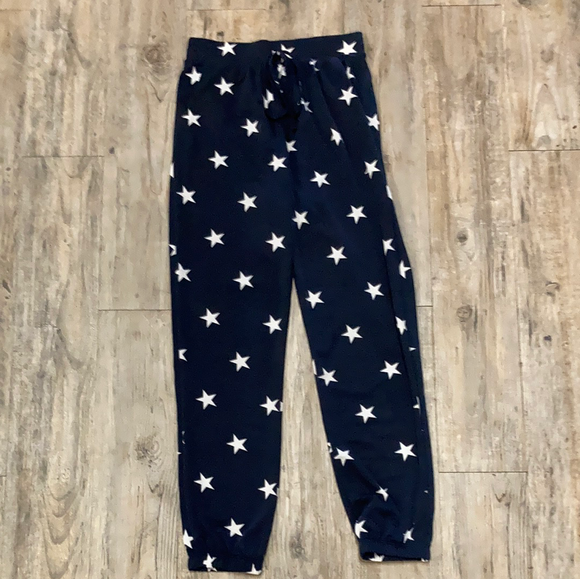 Star Print French Terry Knit Lounge Pants