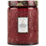 Voluspa Large Embossed Glass Jar Candle