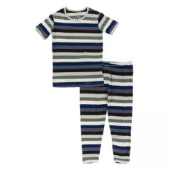 Kickee Pants Print Short Sleeve Pajama Set with Pants - 8t