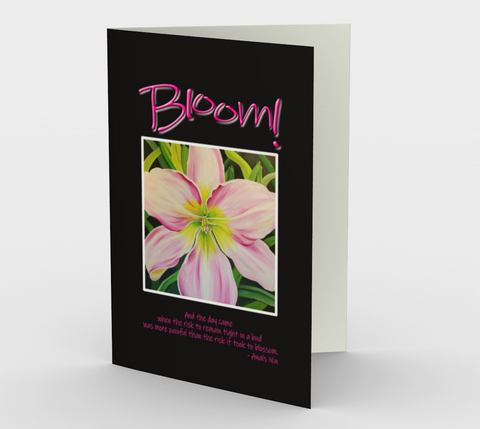Sanctuary Bloom Stationery Card