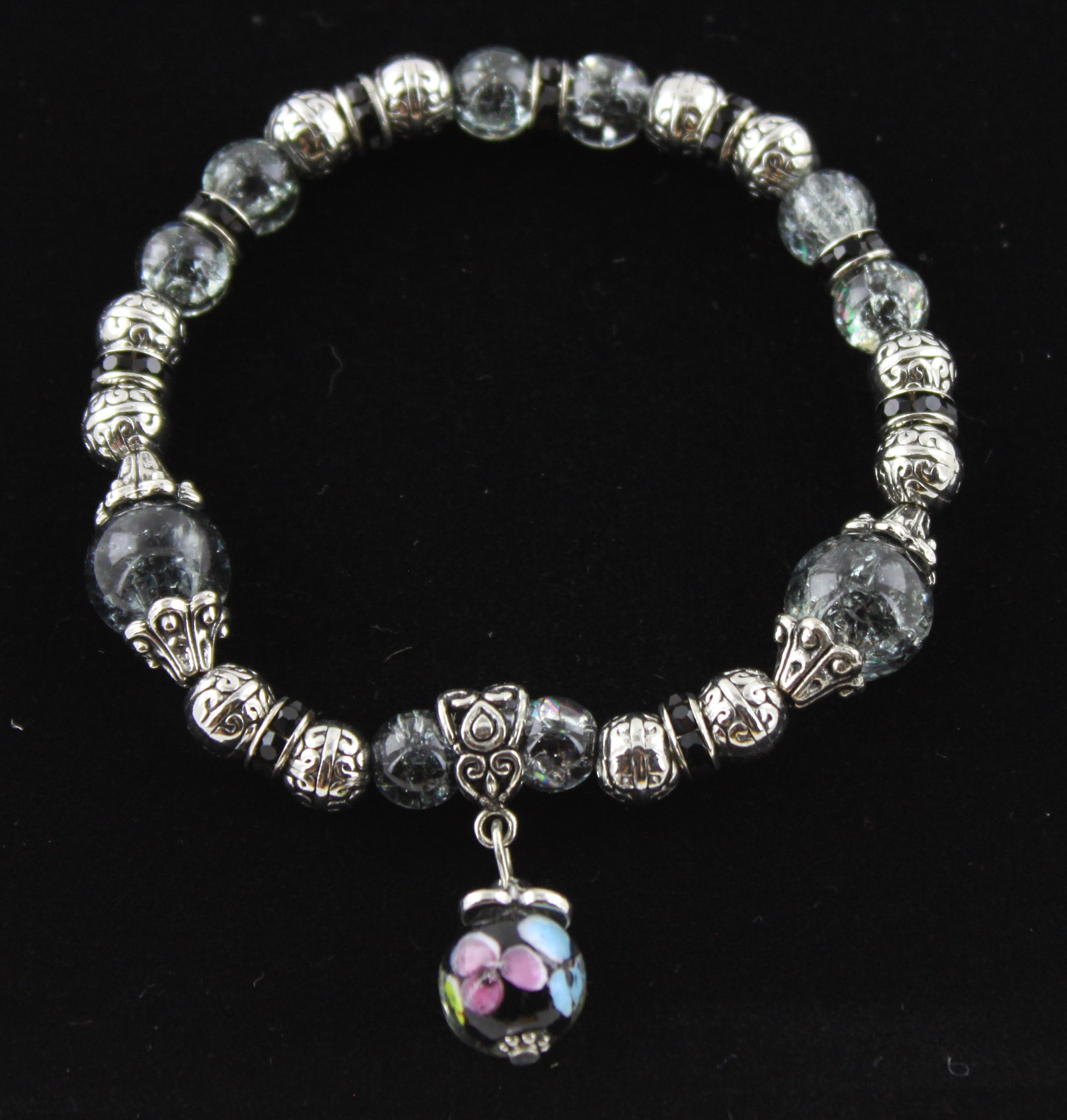 Shades of Grey with a Hint of Colour Pendant Bracelet