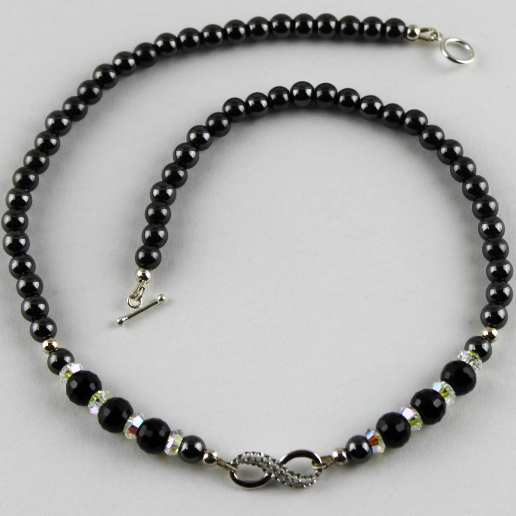 "Midnight Storm Infinity 17"" Necklace"