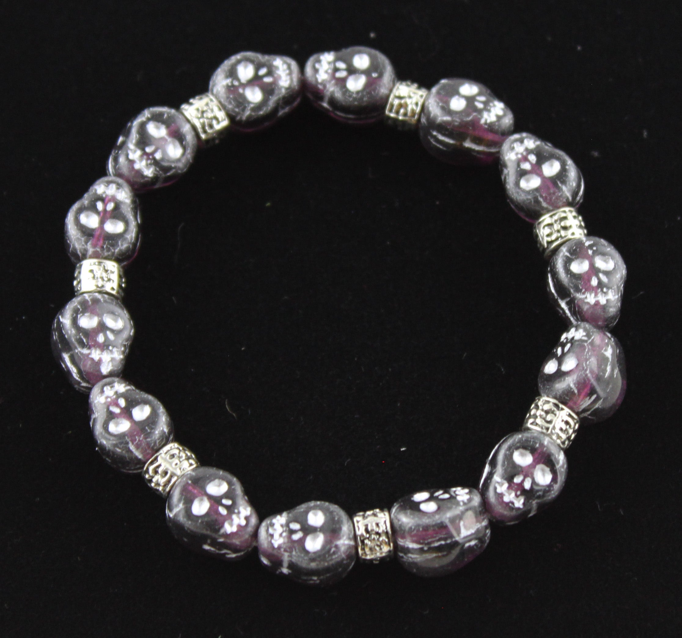 Glass Skull Purple Haze Bracelet