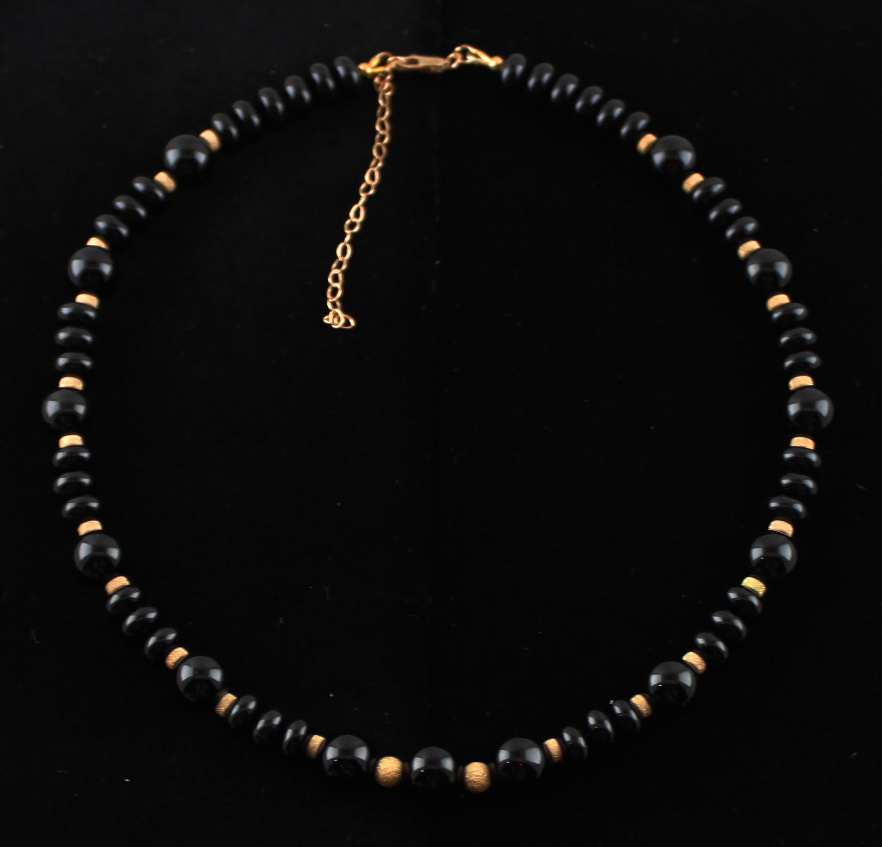 Black Onyx and 14K Gold Filled Necklace